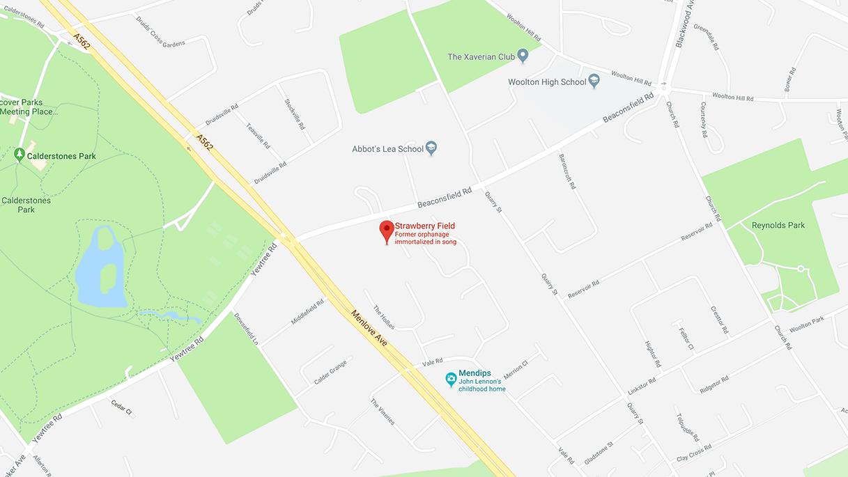Strawberry Fields location map
